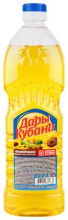 Масло подсолнечное Дары Кубани нерафинированное 0.65 л
