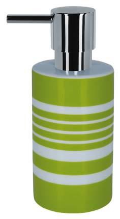 Дозатор для жидкого мыла Spirella Tube-Stripes Зеленая полоска