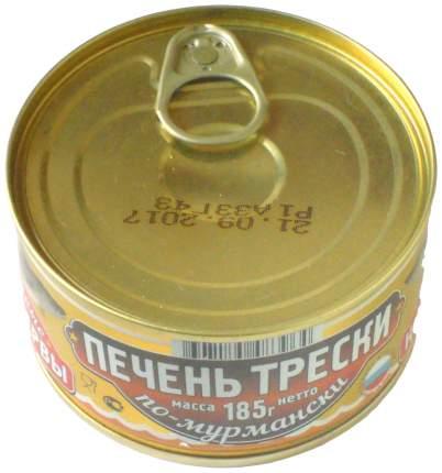 Печень трески Вкусные консервы по-мурмански 185 г