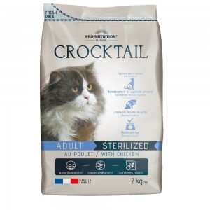 Сухой корм для кошек Flatazor Crocktail Sterelized, для стерилизованных, курица, 2кг
