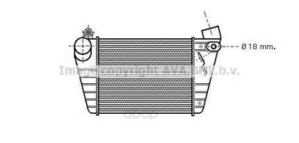 Радиатор охлаждения двигателя Audi A3, VW Golf Ava AI4185