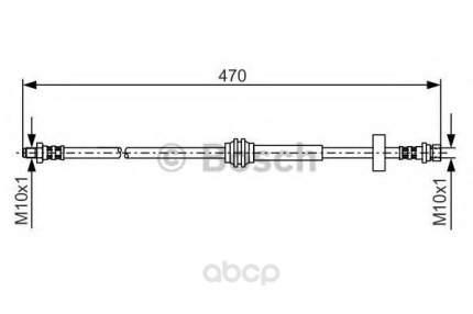 Шланг тормозной системы Bosch 1987476885