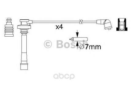 Комплект высоковольтных проводов Bosch 0986357147