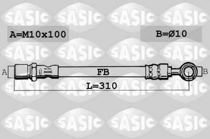 Шланг тормозной SASIC 6606109