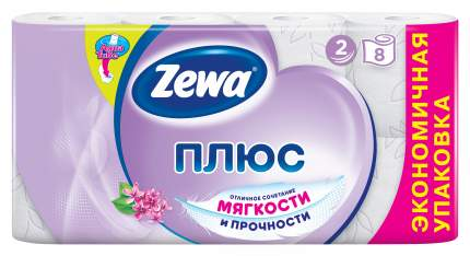 Туалетная бумага Zewa Плюс Сирень, 2 слоя, 8 рулонов