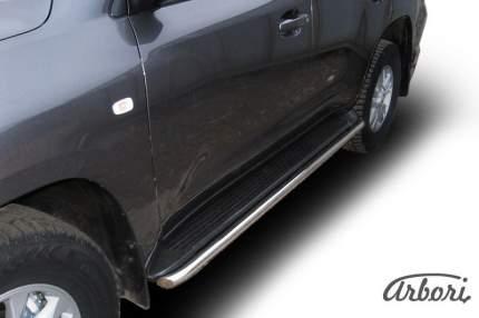 Защита штатного порога d42 Arbori нерж. сталь для Toyota LC200 2007-2012