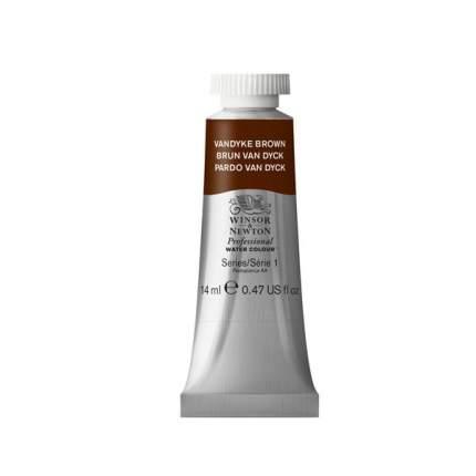 Акварель Winsor&Newton Professional коричневый ван дейк 14 мл