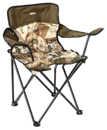 Кресло туристическое Nika Премиум ПСП5, черный, хаки