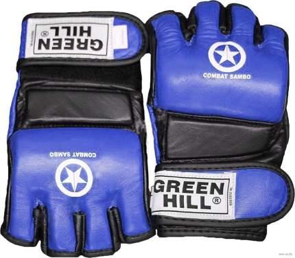 Перчатки для MMA Green Hill Combat Sambo MMR-0027CS, к/з, синие (S)