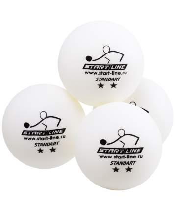 Мячи для настольного тенниса Start Line 2* Standart белые, 6 шт.