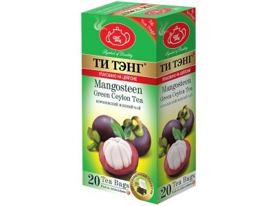 Чай зеленый в пакетиках для чашки Ти Тэнг Mangosteen 20*2 г