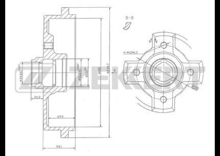 Тормозной барабан ZEKKERT BS-5427