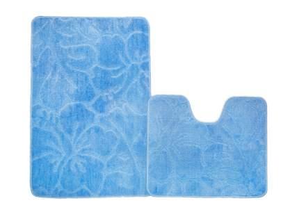 Набор ковриков для ванной ЭКО голубой, SHAHINTEX 7313-3
