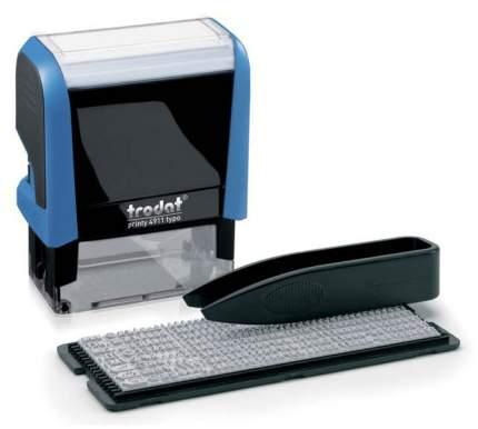 Штамп самонаборный Trodat Printy 4911 P4 TYPO РУС. Поле: 38х14 мм. 3 строки. 1 касса
