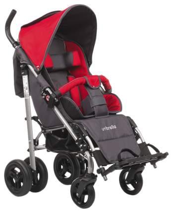 Кресло-коляска Meyra Umbrella new для детей ДЦП красный-серый цельнолитые