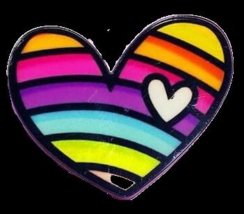 Значок NoBrand Радужное сердце, акрил