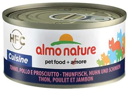 Консервы для кошек Almo Nature Cat Cuisine NFC, тунец, курица и ветчина, 70г