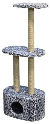 Комплекс для кошек Пушок Овальный кабинет Серый леопард