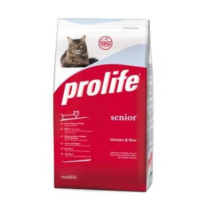 Сухой корм для кошек Prolife Senior, для пожилых, курица, рис, 0,4кг