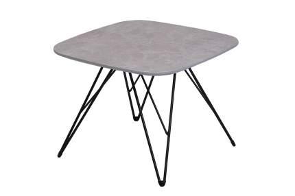 Журнальный столик Hoff King 80312462 50х50х38 см, серый мрамор/чёрный