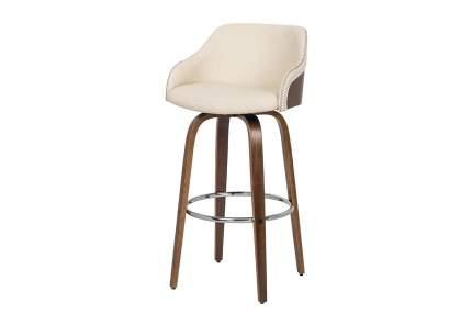 Полубарный стул Hoff Kelly MLM-620085, грецкий орех/хром/кремовый