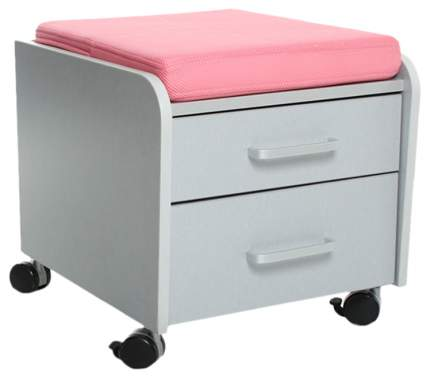 Тумбочка Comf-Pro BD-C2 (цвет обивки: розовый, цвет каркаса: серый, цвет товара: серый)