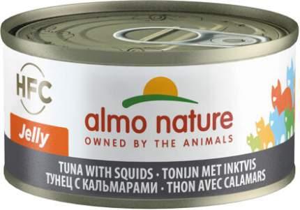Консервы для кошек Almo Nature HFC Jelly, морепродукты, тунец, 24шт, 70г