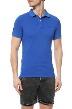 Поло мужское Superdry синее XL