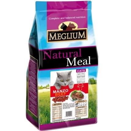 Сухой корм для кошек Meglium Adult, говядина, 15кг