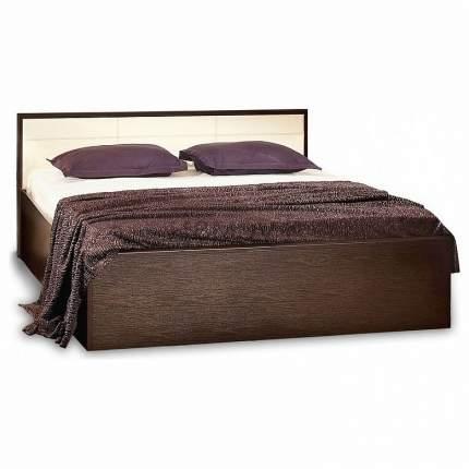 Кровать двуспальная Глазов мебель Амели 180х200 см, коричневый