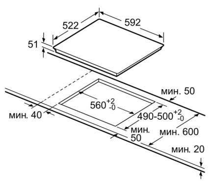 Встраиваемая варочная панель индукционная Bosch PIE651F17E Black