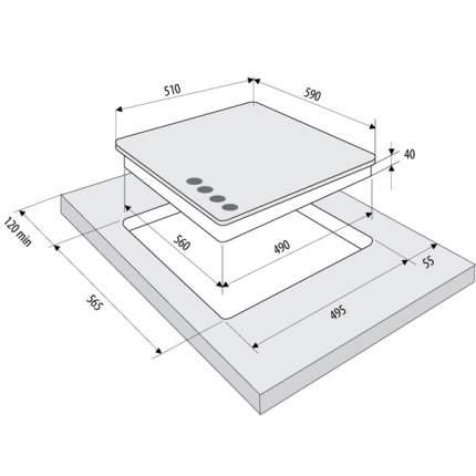 Встраиваемая варочная панель газовая Fornelli PGA 60 QUADRO IX Silver