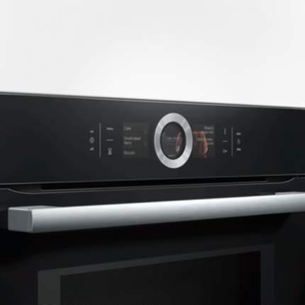 Встраиваемый электрический духовой шкаф Bosch HMG656RB1 Black