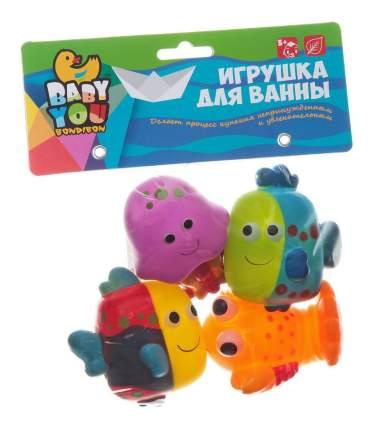 """Игровой набор для купания Bondibon """"Рыбки, рак, медуза"""""""