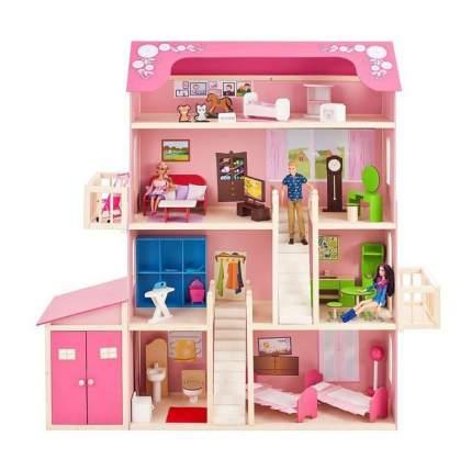 Дом кукольный Paremo Нежность розовый PD316-01