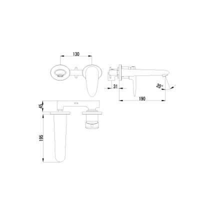 Смеситель для встраиваемой системы LEMARK Status LM4426C хром
