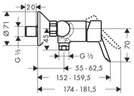 Смеситель для душа HansGroheX Focus S 31762000 хром