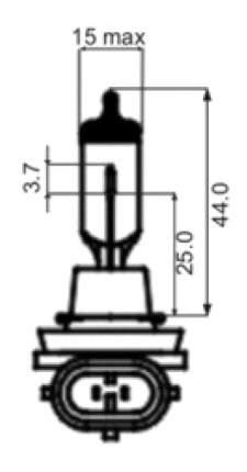 Лампа галогенная SCT 35W PGJ19-1 202617