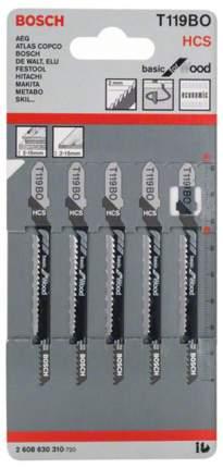 Набор пилок для лобзика Bosch T 119 ВО, HCS 2608630310
