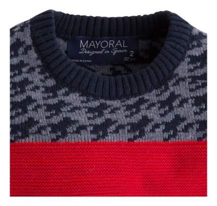 Свитер Mayoral в полоску бежевый/красный 98 размер