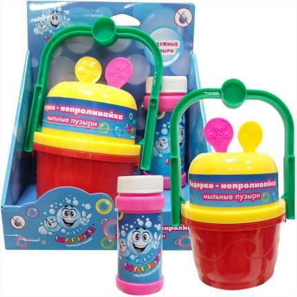 Набор для пускания мыльных пузырей 1Toy Мы - шарики! Ведерко - непроливайка (Т11541)