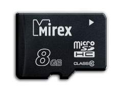 Карта памяти MIREX Micro SDHC 8GB
