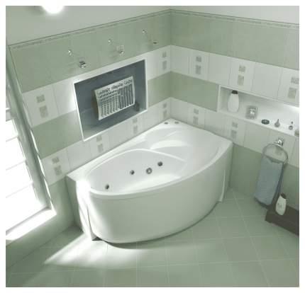 Акриловая ванна BAS Алегра 150х90 c гидромассажем правая
