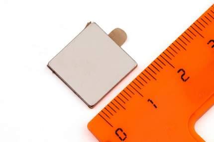 Неодимовый магнит Forceberg прямоугольник 15х15х1.5 мм с клеевым слоем, 8шт