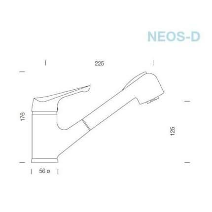 Смеситель Schock NEOS-D Cristalite оникс