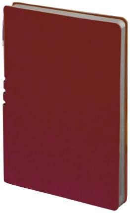Бизнес-блокнот Brauberg Nebraska, А5, линия, 112 листов, Бордовый