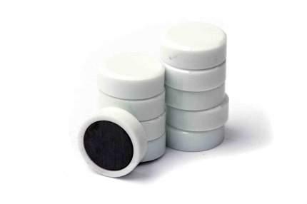 Магнит для магнитной доски FORCEBERG 20 мм, белый, 10шт.