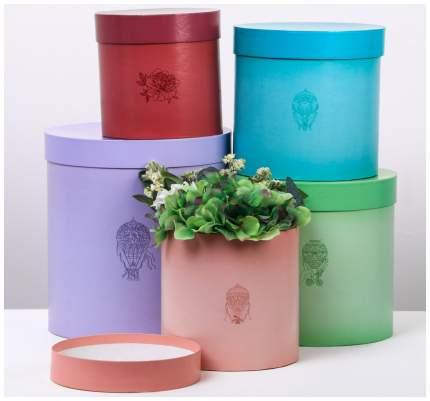 Набор круглых подарочных коробок 5в1 «Жемчуг», 23 × 23 × 25‒15 × 15 × 15 см Sima-Land