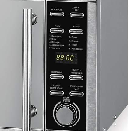 Микроволновая печь с грилем и конвекцией BBK 25MWC-990T/S-M Silver