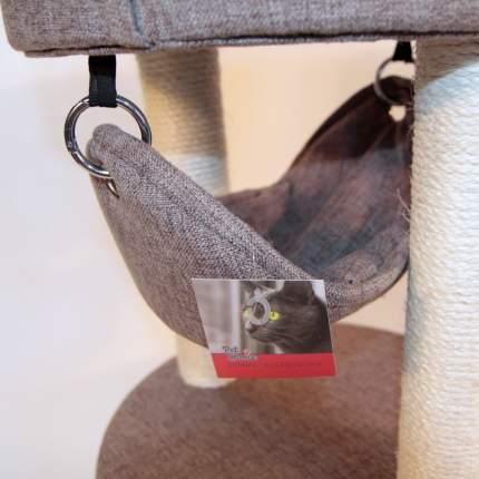Комплекс для кошек Pet Choice трехуровневый, коричневый 40x40х90см